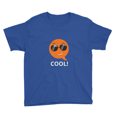 Bubblelingo Cool Dude Boys' Short Sleeve T-Shirt royal blue
