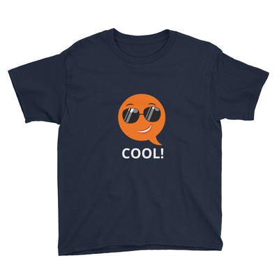 Bubblelingo Cool Dude Boys' Short Sleeve T-Shirt Navy