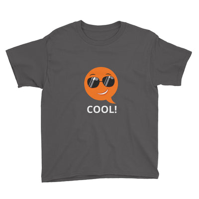 Bubblelingo Cool Dude Boys' Short Sleeve T-Shirt charcoal