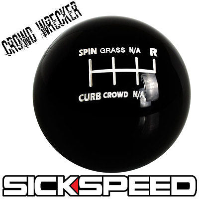 CROWD WRECKER KNOB FOR 6 SPEED SHORT THROW SHIFTER LEVER SELECTOR 12X1.25 K08
