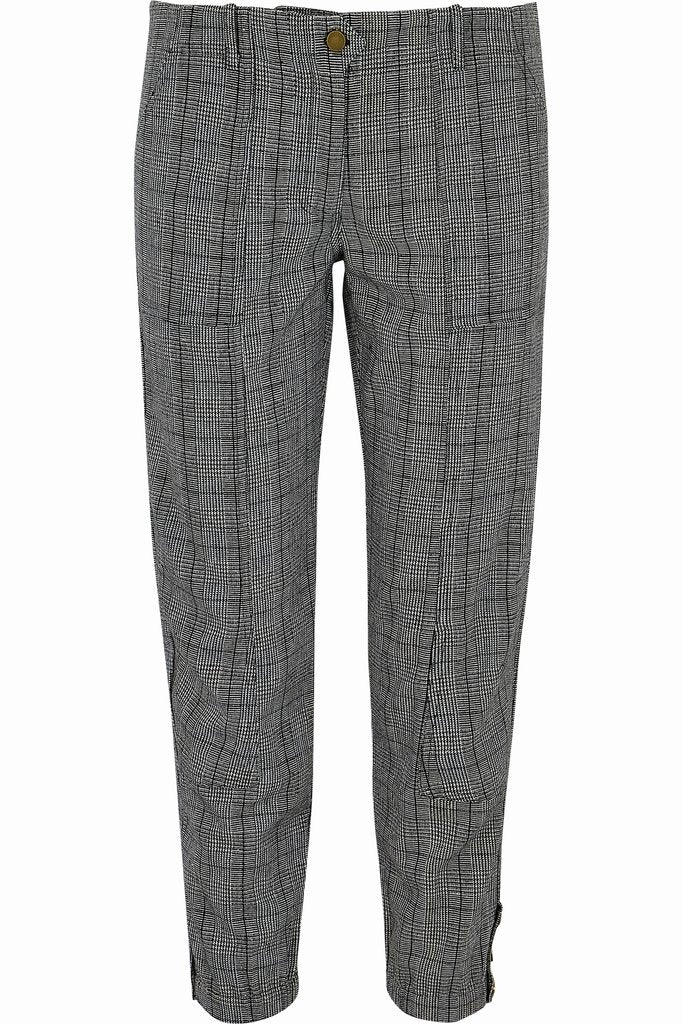 Black Checked Jogger Trousers