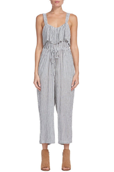 Charcoal/White Stripe Jumpsuit