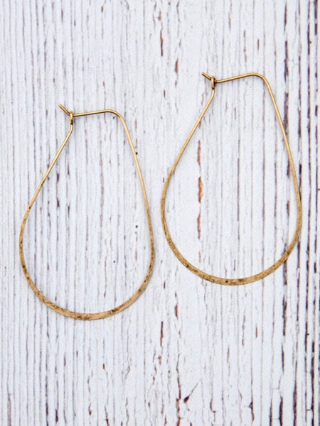 Large Teardrop Hoop Earrings