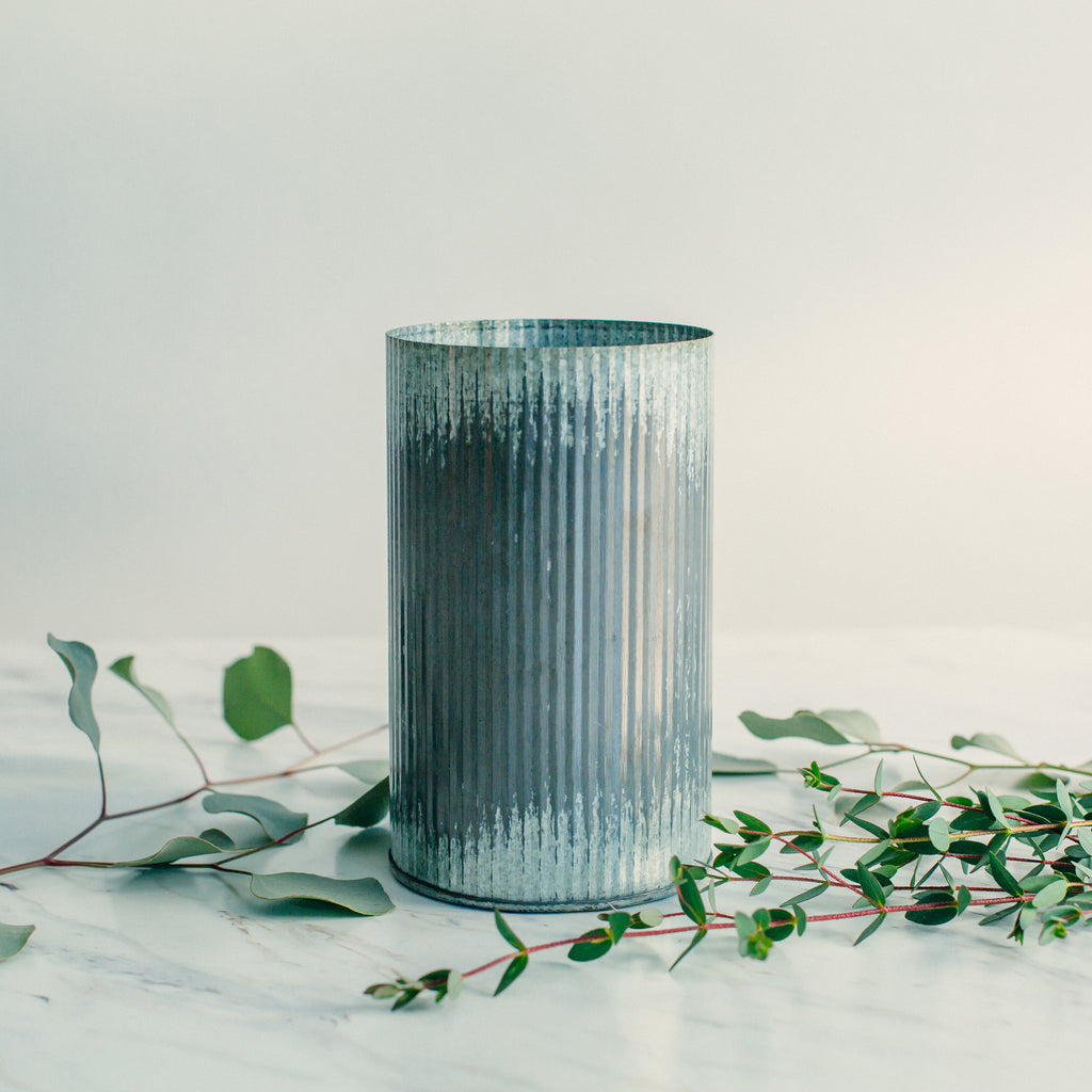 Galvanized Metal Vase