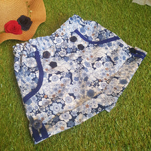 Blue vintage floral sailor shorts