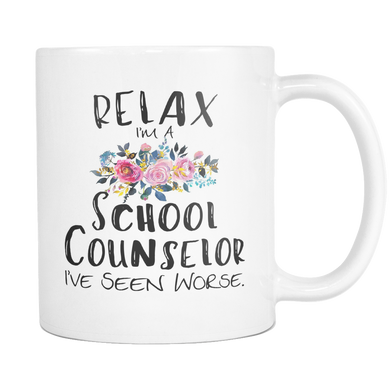 Relax I'm A School Counselor Coffee Mugs