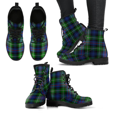 Image of MacKenzie Modern Tartan Leather Boots
