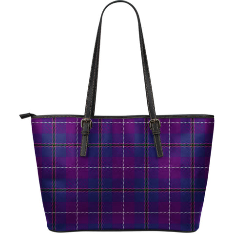 Pride of Glencoe Tartan Leather Tote Bag (Large) | Over 500 Tartans | Special Custom Design