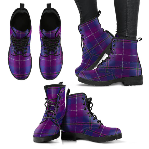 Pride of Glencoe Tartan Leather Boots