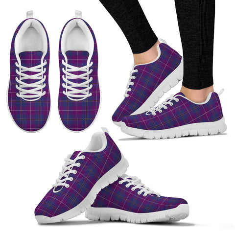 Image of Pride of Glencoe, Women's Sneakers, Tartan Sneakers, Clan Badge Tartan Sneakers, Shoes, Footwears, Scotland Shoes, Scottish Shoes, Clans Shoes