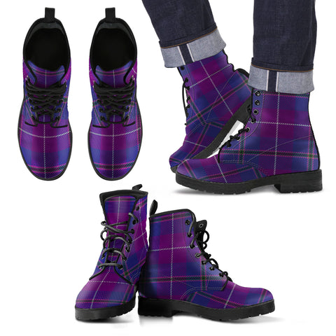 Image of Pride of Glencoe Tartan Leather Boots Footwear Shoes