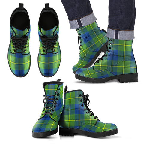 Johnston Ancient Tartan Leather Boots Footwear Shoes