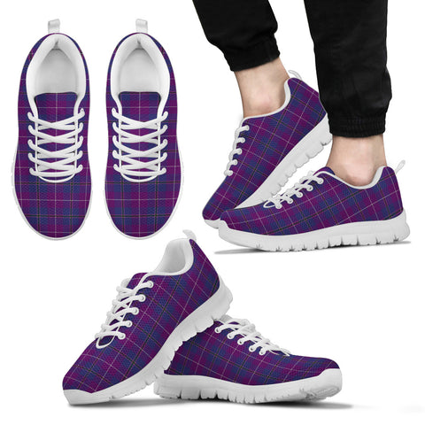 Image of Pride of Glencoe, Men's Sneakers, Tartan Sneakers, Clan Badge Tartan Sneakers, Shoes, Footwears, Scotland Shoes, Scottish Shoes, Clans Shoes