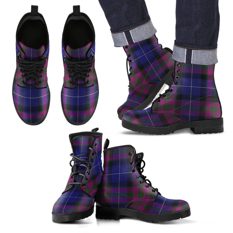 Image of Pride of Scotland Tartan Leather Boots Footwear Shoes