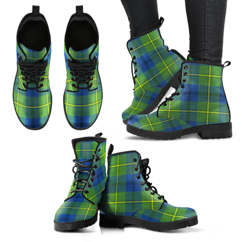 Image of Johnston Ancient Tartan Leather Boots