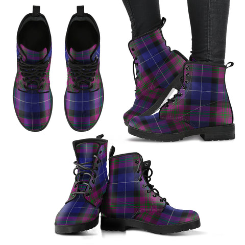 Pride of Scotland Tartan Leather Boots