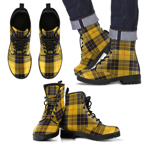 MacLeod of Lewis Ancient Tartan Leather Boots Footwear Shoes