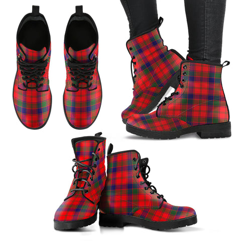 Image of Robertson Modern Tartan Leather Boots