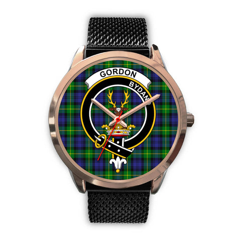 Gordon Modern, Silver Metal Link Watch,  leather steel watch, tartan watch, tartan watches, clan watch, scotland watch, merry christmas, cyber Monday, halloween, black Friday