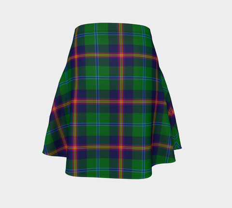 Image of Tartan Flared Skirt - Young Modern