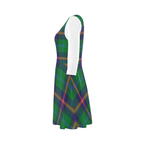 Young Modern Tartan 3/4 Sleeve Sundress | Exclusive Over 500 Clans
