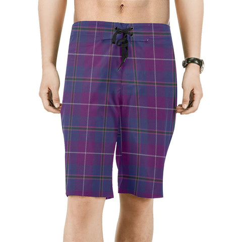 Pride of Glencoe Tartan Board Shorts | scottishclans.co