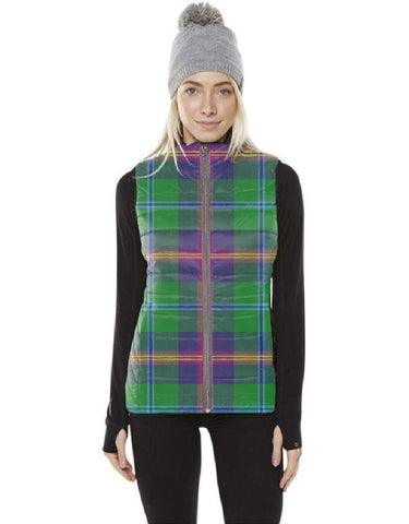 Image of Young Modern Tartan Puffer Vest for Men and Women