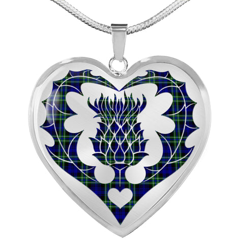 Arbuthnot Modern Tartan Luxury Necklace Luckenbooth Thistle TH8