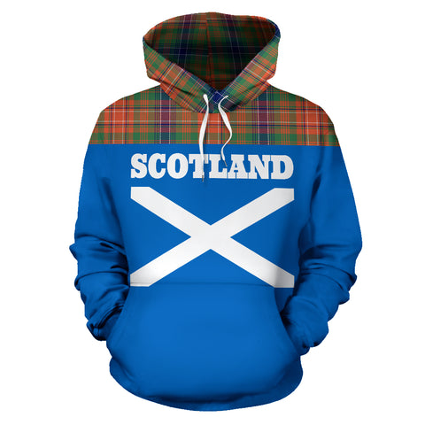 Tartan All Over Hoodie - Lion Wilson Ancient