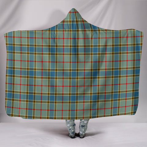 Balfour Blue, hooded blanket, tartan hooded blanket, Scots Tartan, Merry Christmas, cyber Monday, xmas, snow hooded blanket, Scotland tartan, woven blanket
