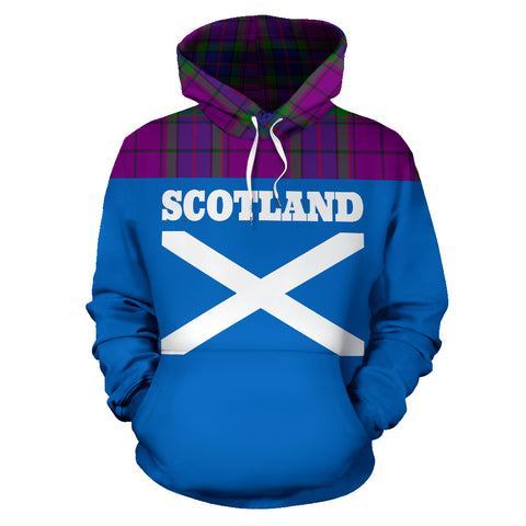 Image of Tartan All Over Hoodie - Lion Wardlaw Modern