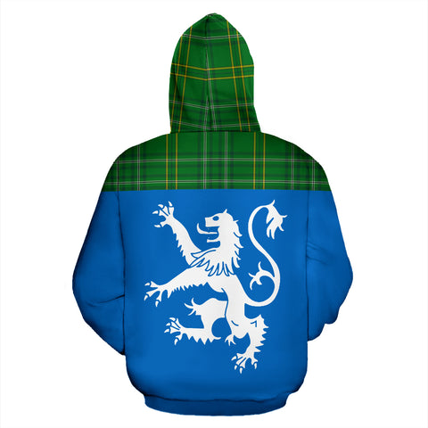 Tartan All Over Hoodie - Lion Wexford County