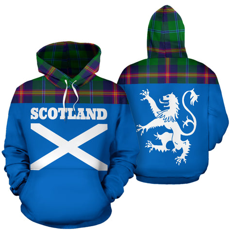 Tartan All Over Hoodie - Lion Young Modern