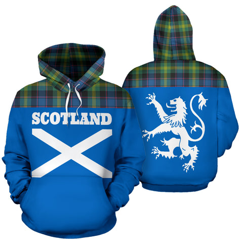 Tartan All Over Hoodie - Lion Watson Ancient