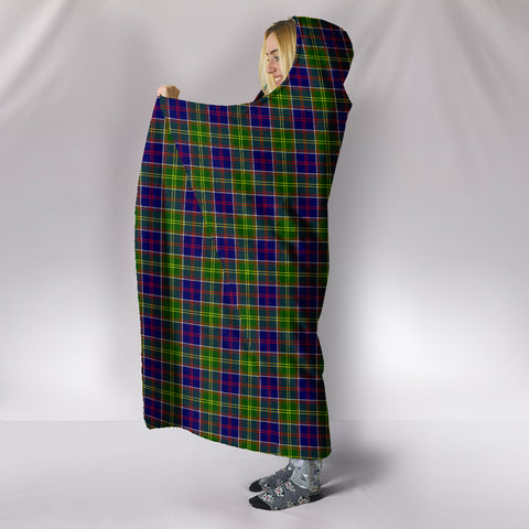 Ayrshire District, hooded blanket, tartan hooded blanket, Scots Tartan, Merry Christmas, cyber Monday, xmas, snow hooded blanket, Scotland tartan, woven blanket