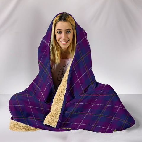 Image of Pride of Glencoe, hooded blanket, tartan hooded blanket, Scots Tartan, Merry Christmas, cyber Monday, xmas, snow hooded blanket, Scotland tartan, woven blanket