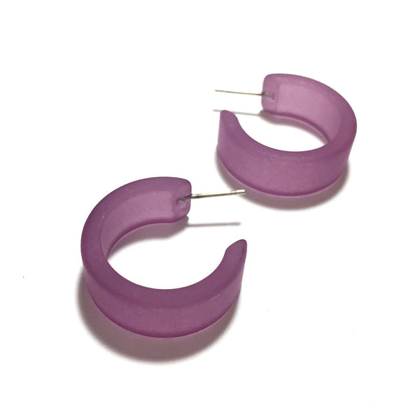 amethyst purple hoops