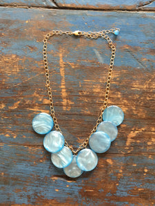 ice blue necklace
