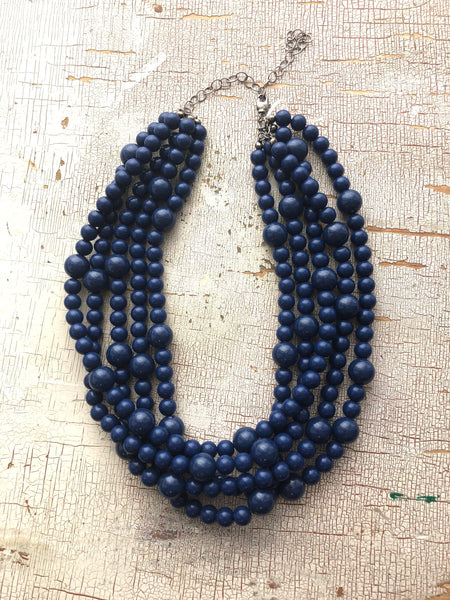 navy blue sylvie necklace