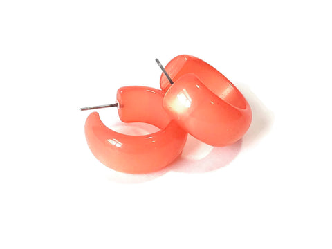 coral moonglow hoops