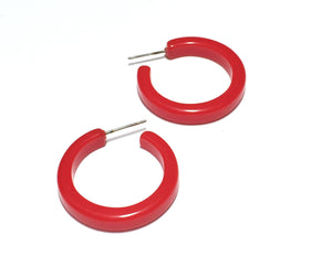 bright red hoops