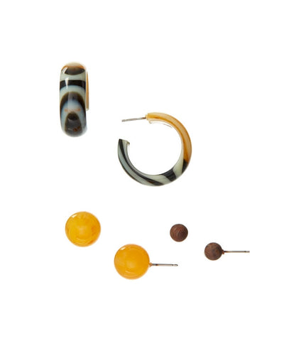 marbled lucite earring set