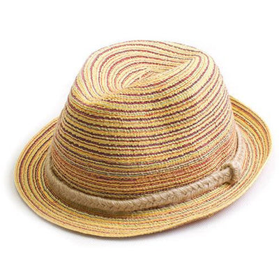 Striped Foldable Straw Hat