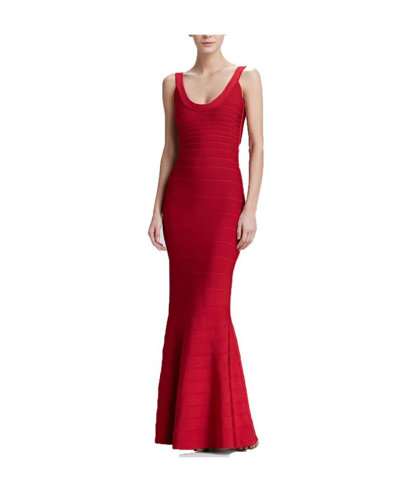 Hervé Leger Red Gown