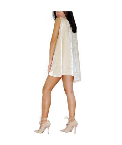 Short Tan Felt Dress - Boro Dress Rentals