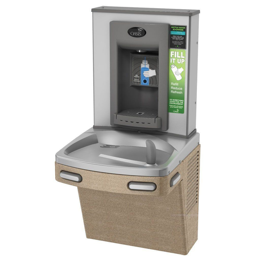 Oasis Sensor Operated Bottle Filler with Water Cooler