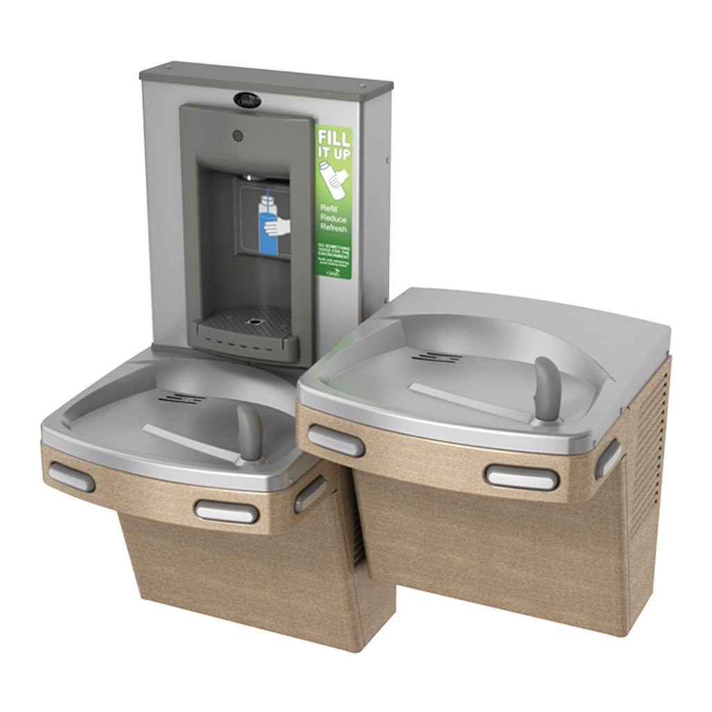 Oasis Bi-Level Water Fountain with Bottle Filler