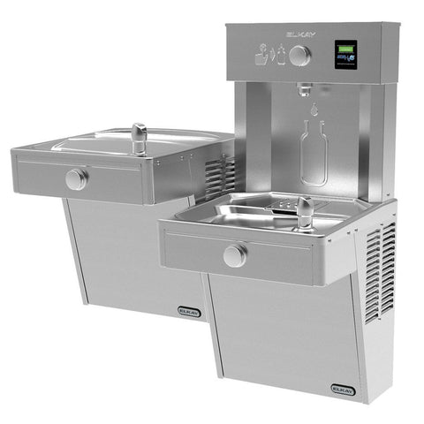 Elkay Vandal Resistant Bi-Level Water Cooler and Bottle Filling Station