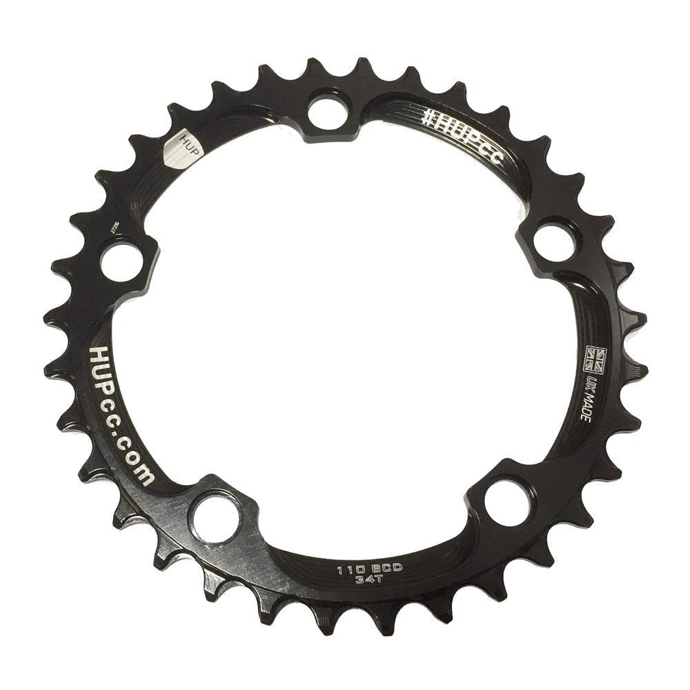 HUP 34T Narrow-Wide Chainring: Kids Road Race/Cyclocross/MTB Race Bikes