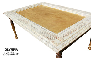 OLYMPIA Shabby Chic Gold Coffee Table, coffee table furniture elegant country shabby chic table living room, AM Florence, AMFlorence